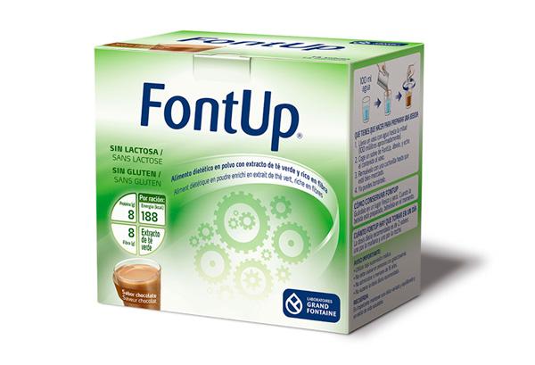 FontUp®, nueva fórmula nutricional con extracto de té verde con una cantidad estandarizada de EGCG (250 mg) y rica en fibra.